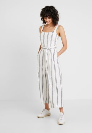 APRON TIE - Jumpsuit - white/black