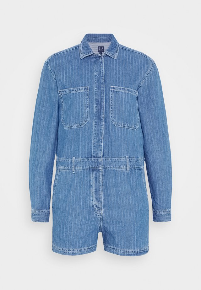 UTILITY ROMPER MED CAPTAIN STRIPE - Kombinezon - blue