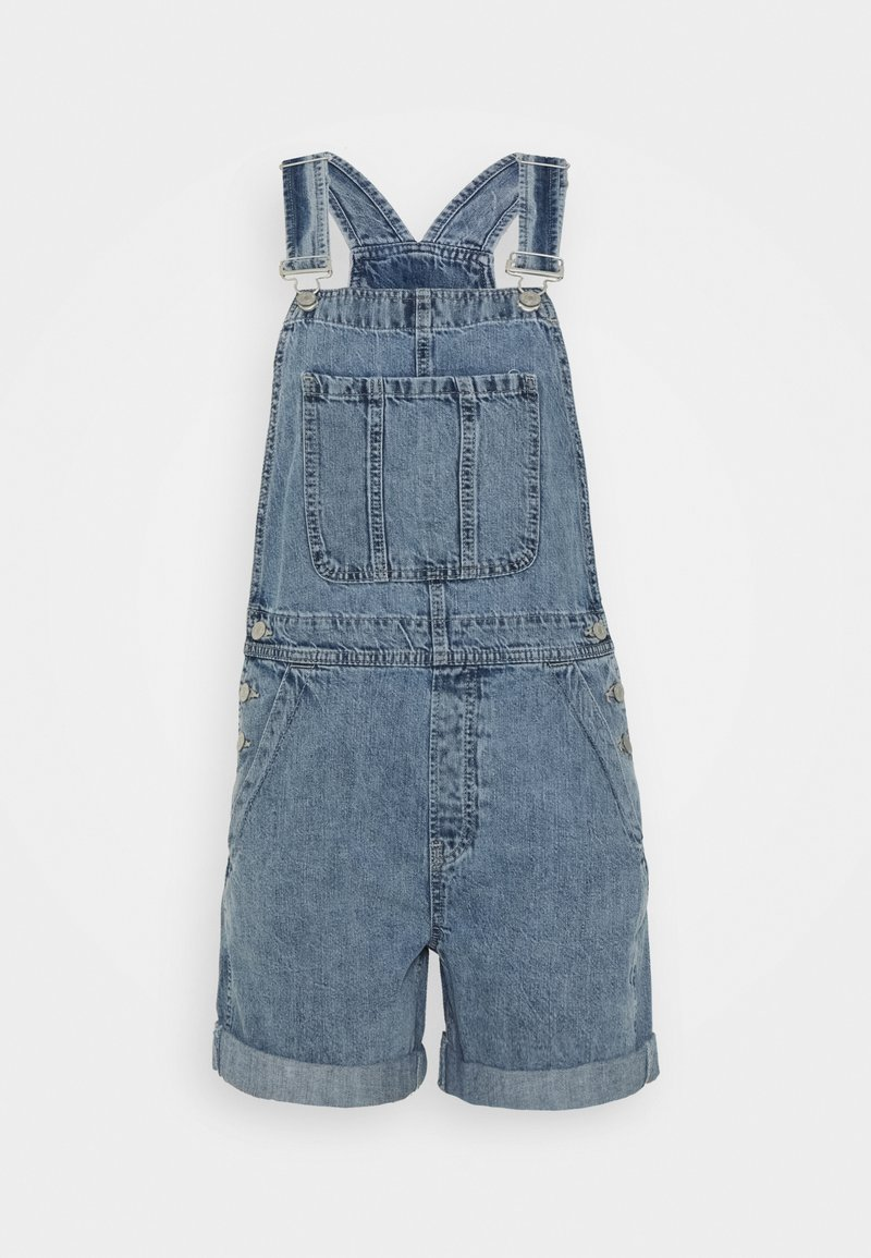 GAP - V-SHORTALL ESTELLE ROLL - Tuinbroek - light wash
