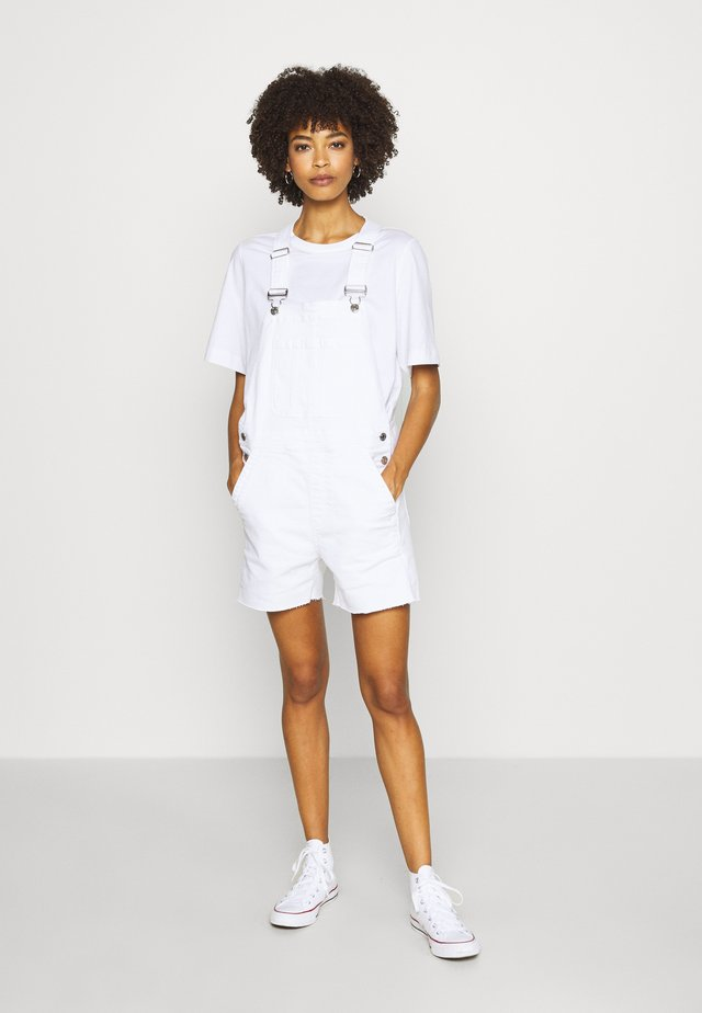 V-SHORTALL - Dungarees - optic white