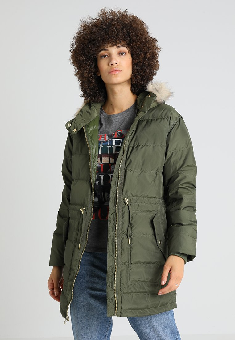 GAP - LONG HODDIE - Daunenmantel - army green