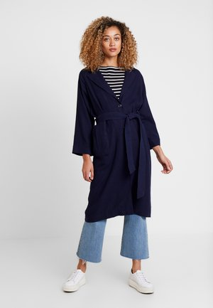 LONG TOPPER - Trenchcoat - navy