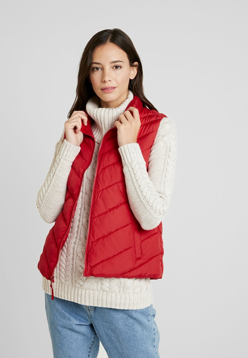 GAP - PUFFER VEST - Waistcoat - modern red