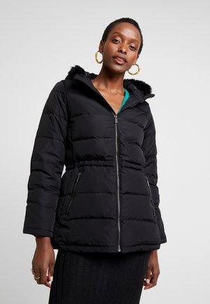 LENGTH PUFFER - Down coat - true black