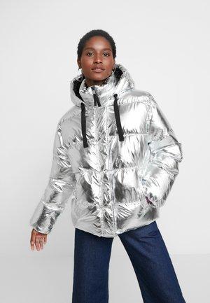 V-MIDWEIGHT NOVELTY PUFFER - Zimní bunda - silver metallic