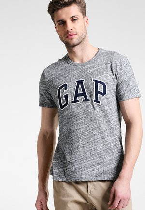 ARCH TEE - Print T-shirt - space dye grey marl