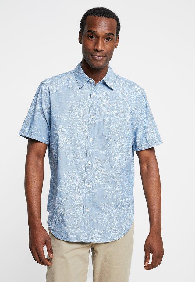 PALM PRINT - Shirt - tropical blue