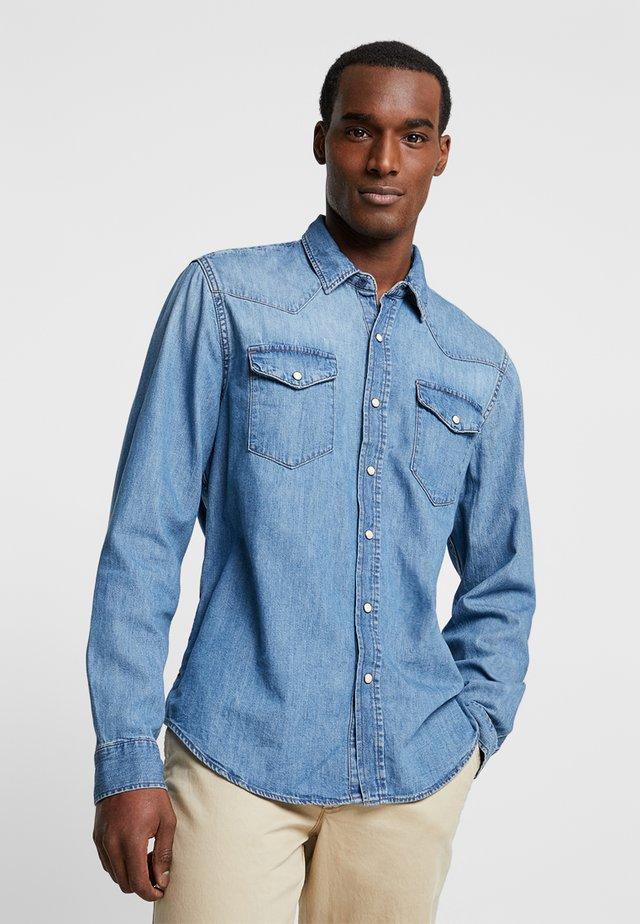 NEW WESTERN - Shirt - medium authentic indigo