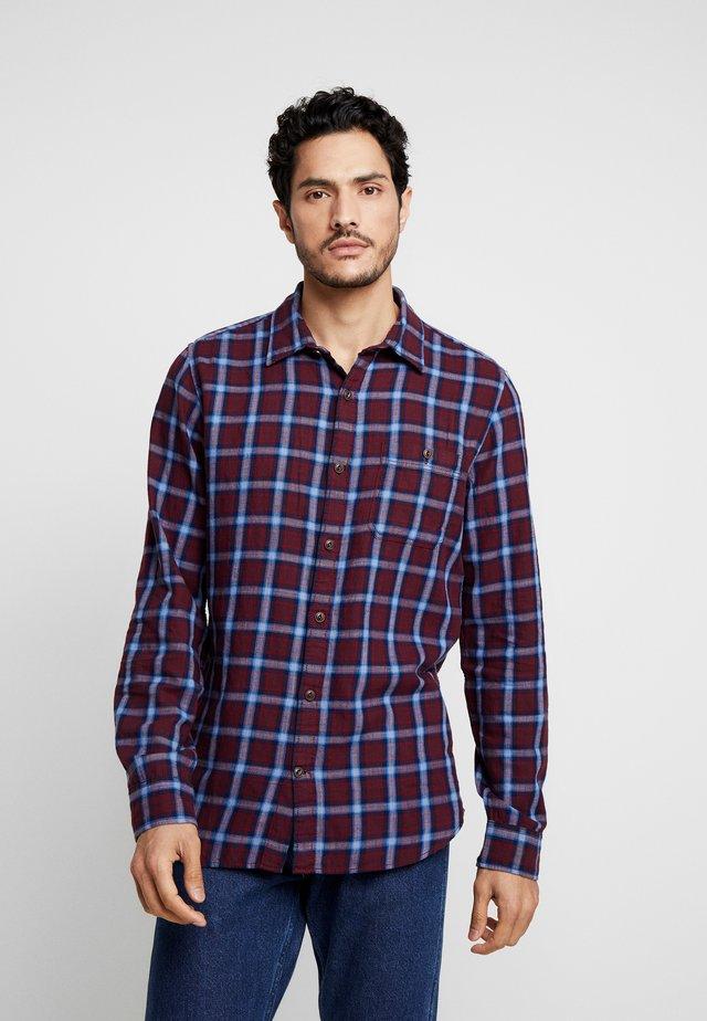 SLIM FIT - Shirt - dark maroon
