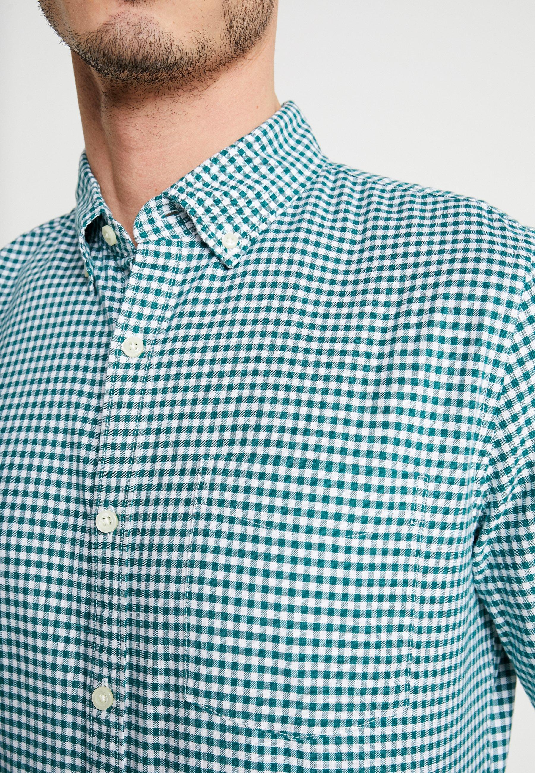 GAP OXFORD SLIM - Koszula - green gingham