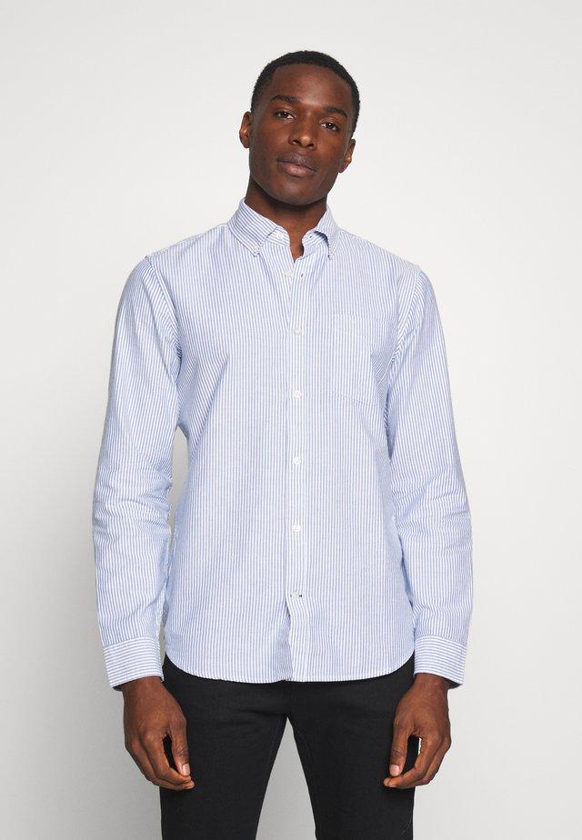 V-OXFORD BASICS SLIM FIT - Camicia - blue