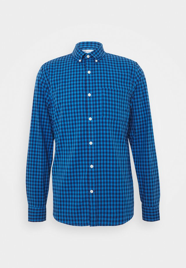 V-OXFORD BASICS SLIM FIT - Camicia - blue gingham