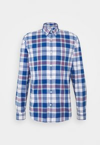 plaid baltic blue