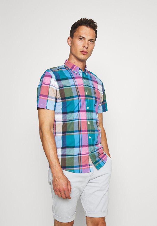 Shirt - madras blue allure