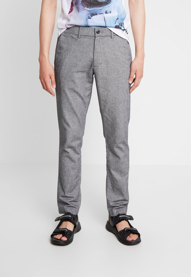 GAP - SLIM TEXTURED PANT - Stoffhose - charcoal heather