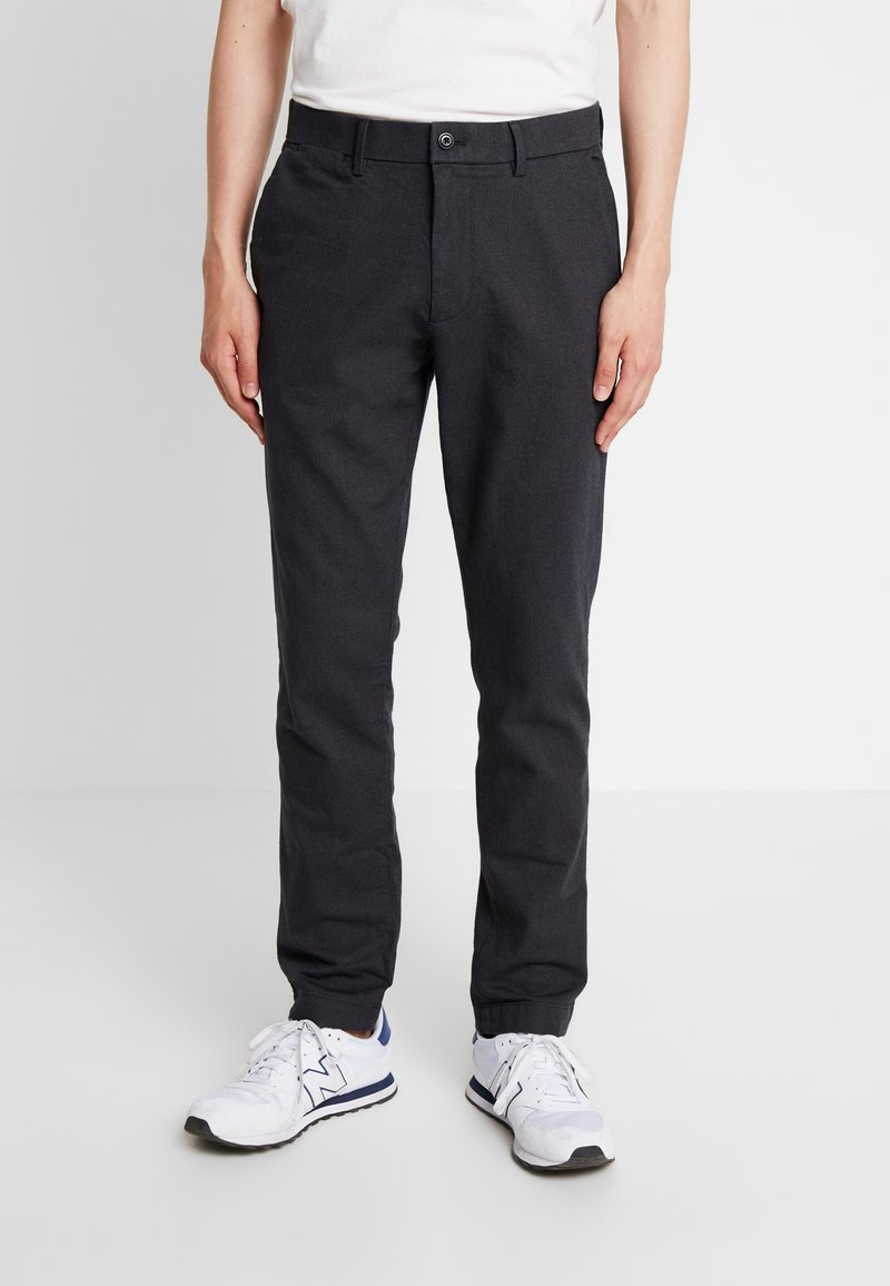 GAP - SLIM TEXTURED PANT - Tygbyxor - moonless night