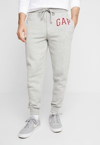 GAP - ARCH JOGGER - Pantalon de survêtement - grey heather - 0