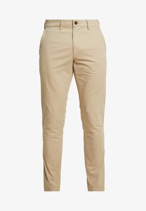 ESSENTIAL SLIM FIT - Trousers - sand
