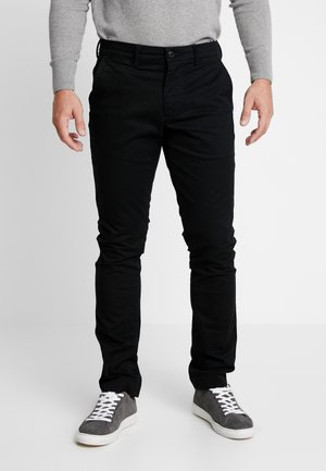 ESSENTIAL SLIM FIT - Chino kalhoty - true black