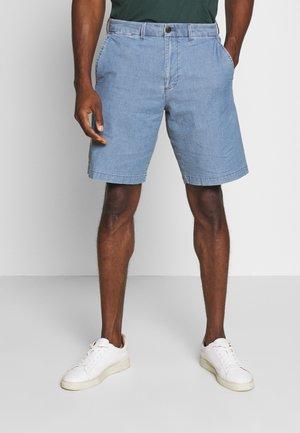 CASUAL STRETCH FLEX - Denim shorts - blue chambray