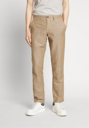 NEW SLIM PANTS - Kangashousut - beige