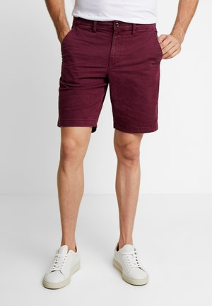 STRETCH SOLID LIVED - Shorts - tuscan red