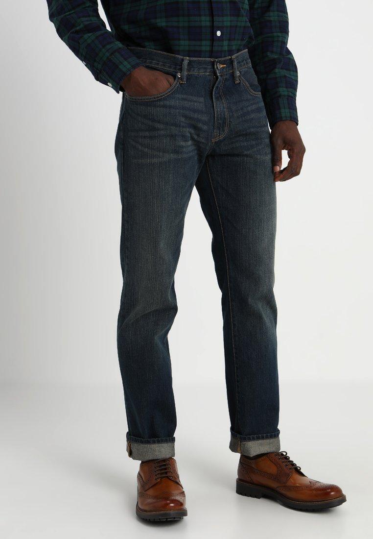 GAP - V-STRAIGHT AUTHENTIC - Jeansy Straight Leg - dark blue