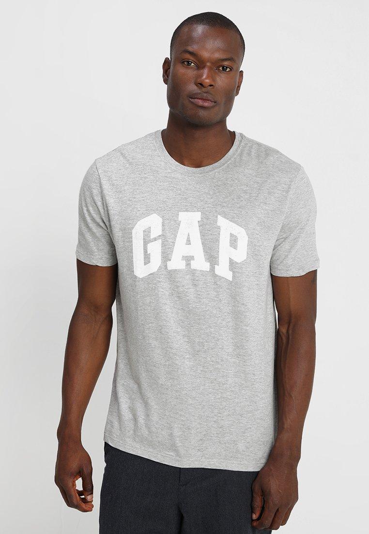 GAP - V-LOGO DISTRESS ARCH - Print T-shirt - light heather grey