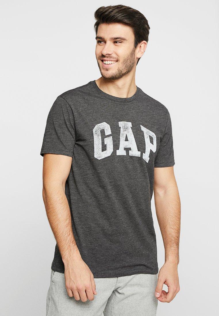 GAP - V-LOGO DISTRESS ARCH - Print T-shirt - charcoal grey