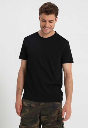 EVERYDAY CREW SOLIDS - T-shirt - bas - true black