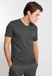 GAP - EVERYDAY SOLIDS - T-shirt - bas - charcoal grey - 0