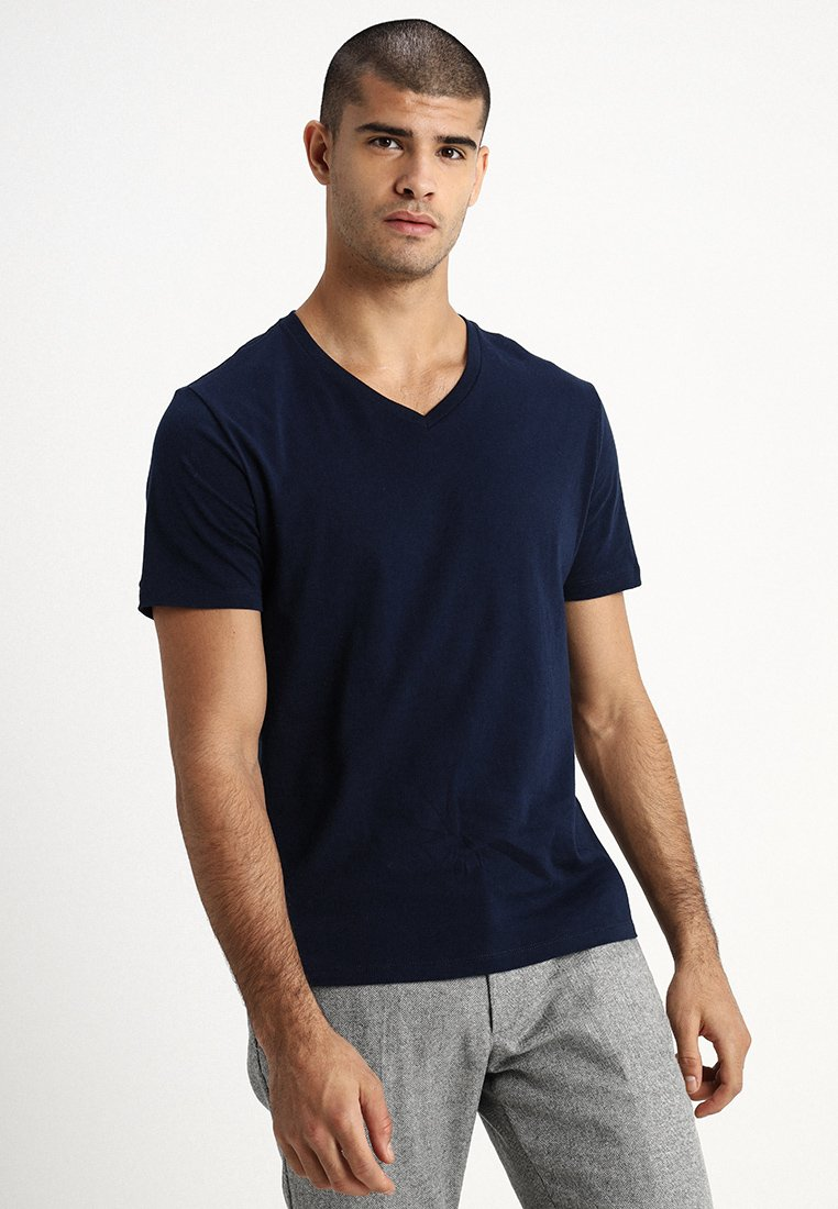 GAP - EVERYDAY SOLIDS - T-shirt - bas - navy