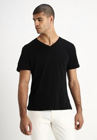 GAP - EVERYDAY SOLIDS - T-shirt - bas - true black - 0