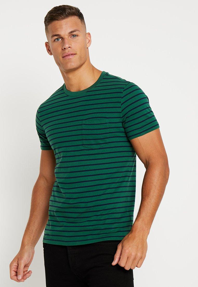 GAP - STRIPE - Print T-shirt - green gables