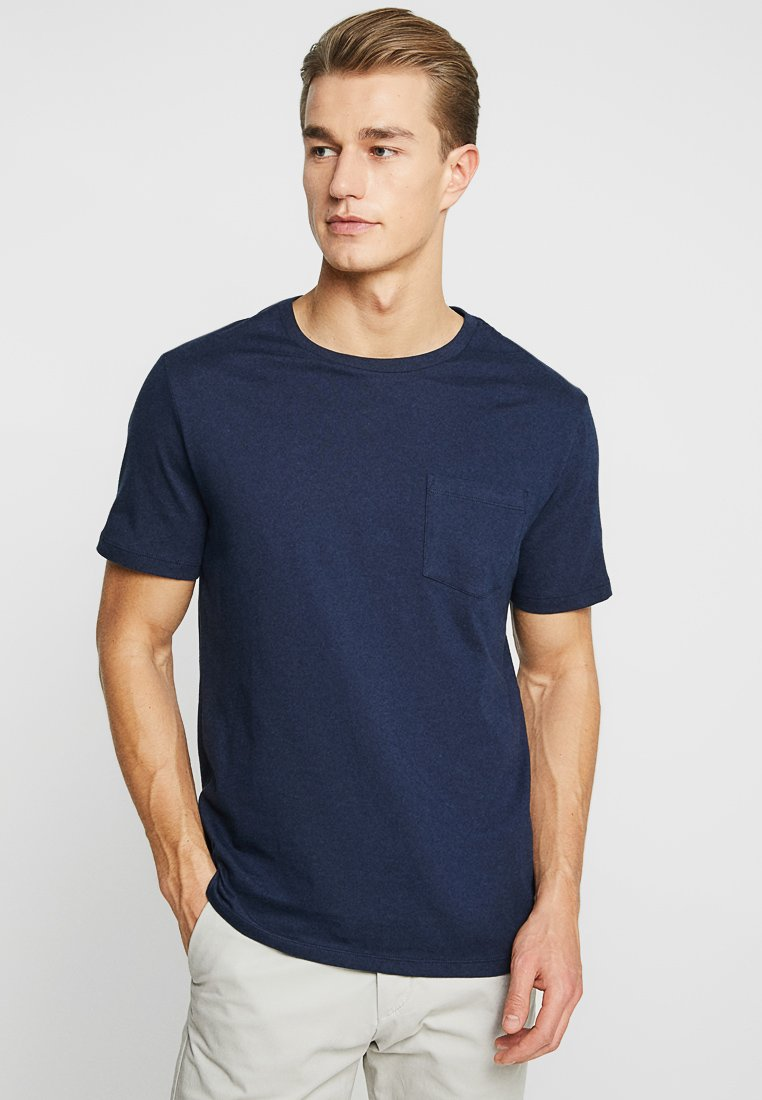 GAP - EVERYDAY POCKET CREW - T-Shirt basic - tapestry navy