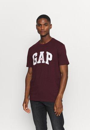 Print T-shirt - pinot noir