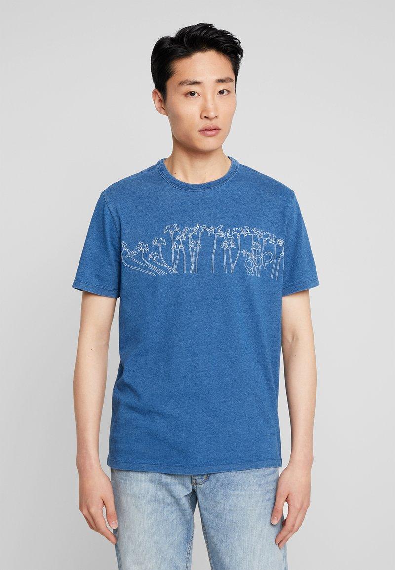 GAP - PALMS - T-Shirt print - medium indigo