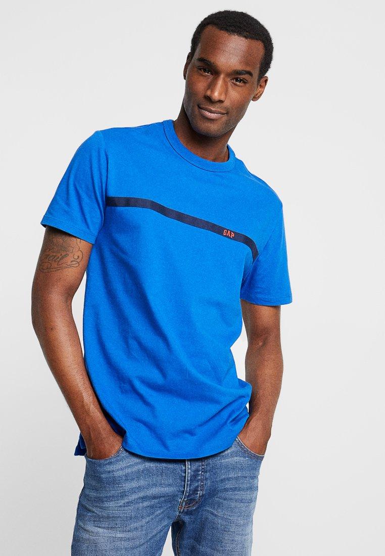 GAP - ORIG TAPE LOGO - T-shirt z nadrukiem - admiral blue
