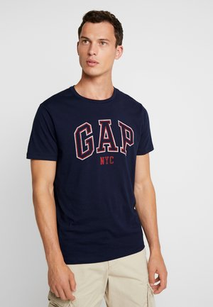 V CITY ARCH TEE - T-shirt z nadrukiem - new classic navy