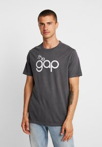 GAP - BUBBLE  - T-shirt z nadrukiem - soft black - 0