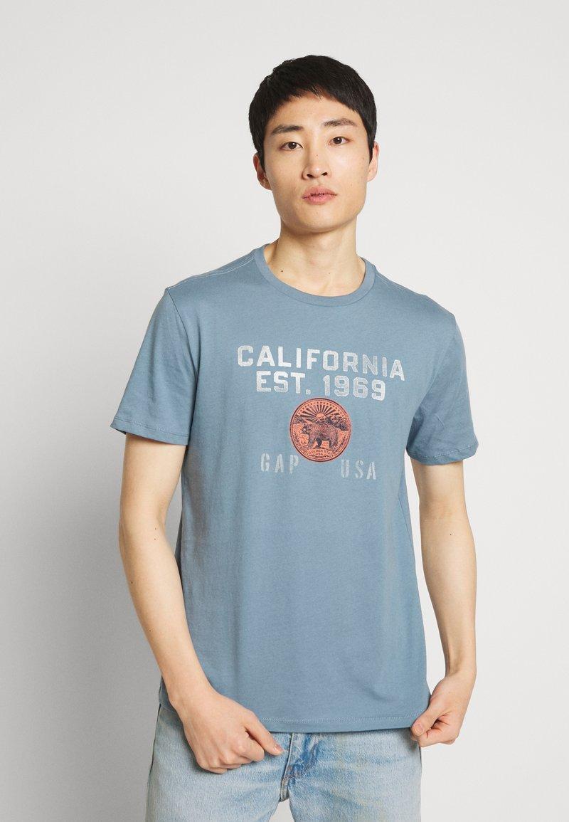 GAP - Print T-shirt - pacific blue