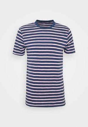 SLUB STRIPE - T-shirt imprimé - blue/white