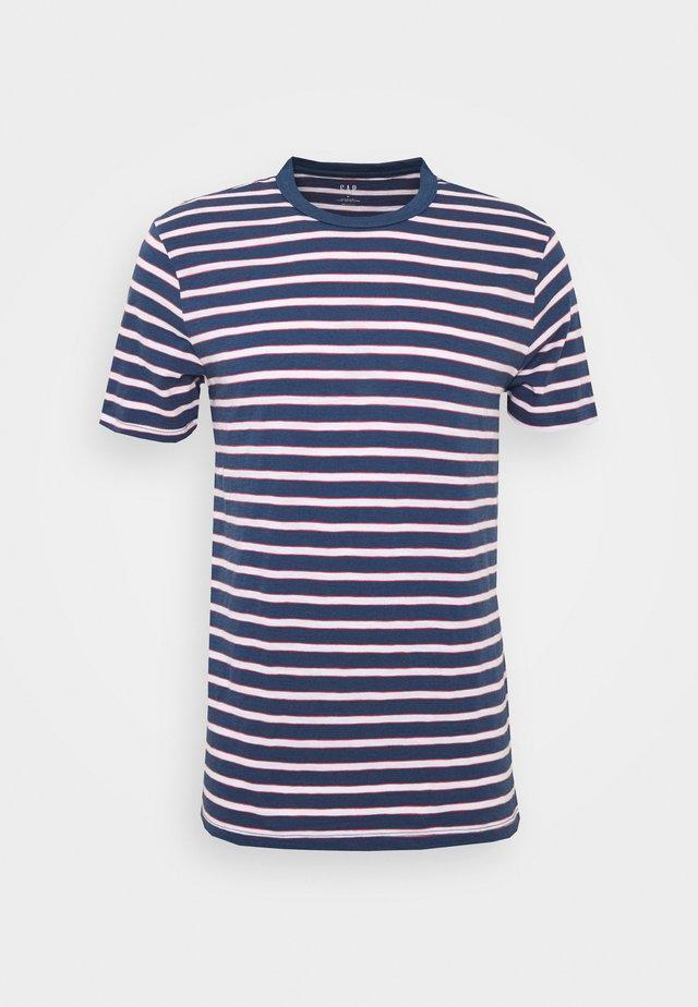 SLUB STRIPE - T-shirt print - blue/white