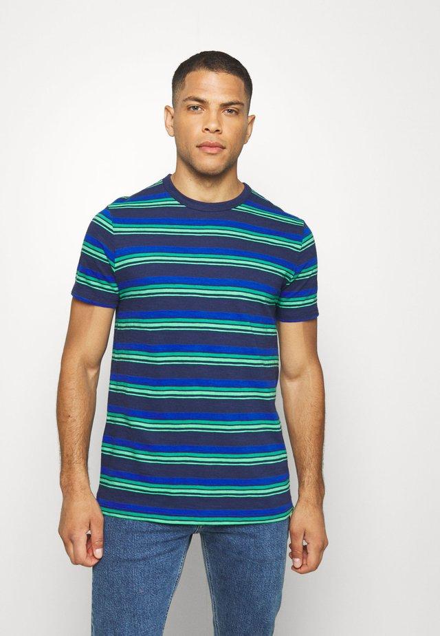 SLUB STRIPE - Print T-shirt - cobalt