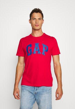 BASIC LOGO - Print T-shirt - pure red