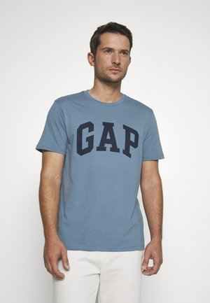 BASIC LOGO - Print T-shirt - pacific