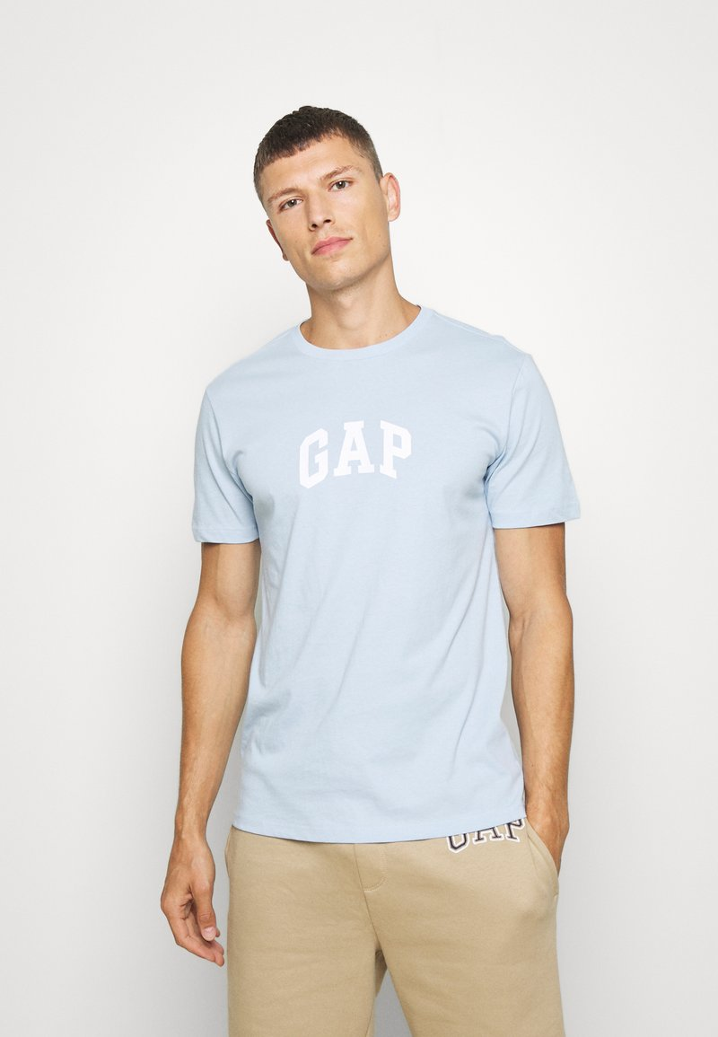 GAP - V-MINI ARCH LOGO - Print T-shirt - light blue shadow