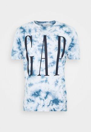 TIE DYE CORP LOGO - Print T-shirt - skool blue