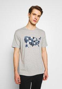 GAP - USA MAP - Print T-shirt - light heather grey - 0