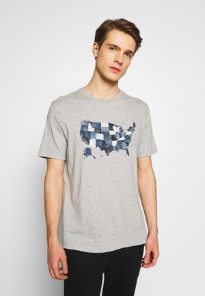 USA MAP - Print T-shirt - light heather grey
